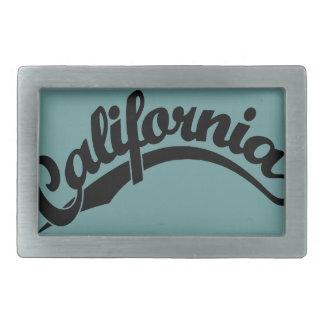 California Script logo in Black Rectangular Belt Buckle