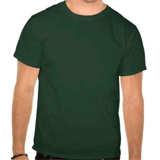 California Script Logo in red on green T Shirts