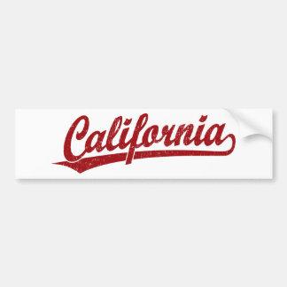 California script logo script logo in red bumper sticker