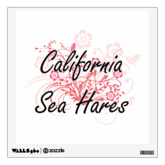California Sea Hares with flowers background Wall Sticker