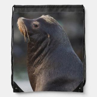 California Sea Lion 2 Drawstring Backpack