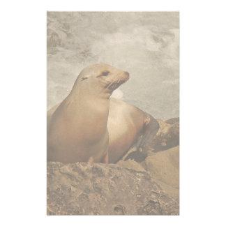 California Sea Lion Animal Wildlife Ocean Stationery