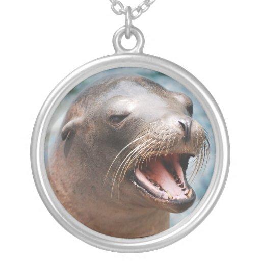 California Sea Lion Sterling Silver Necklace