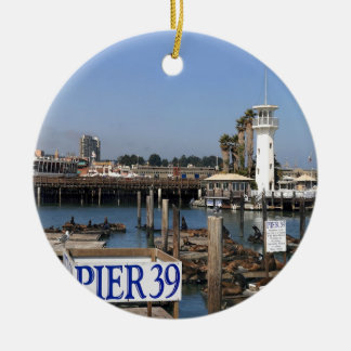 California Sea Lions Double-Sided Ceramic Round Christmas Ornament