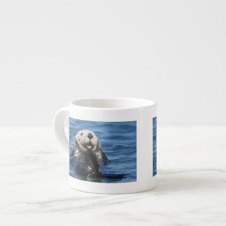 California Sea Otter Enhydra lutris) grooms Espresso Cup
