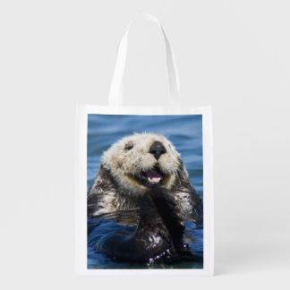 California Sea Otter Enhydra lutris) grooms Grocery Bag