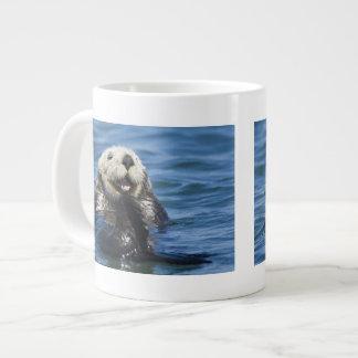 California Sea Otter Enhydra lutris) grooms Large Coffee Mug