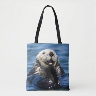 California Sea Otter Enhydra lutris) grooms Tote Bag