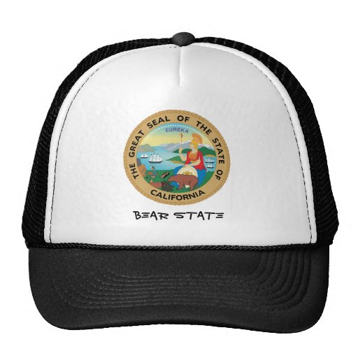 California Seal and Motto Trucker Hats