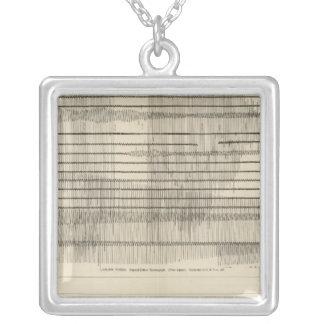 California Seismograms 10 Square Pendant Necklace