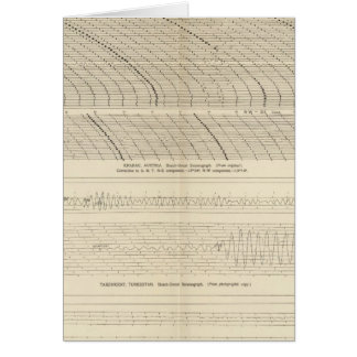 California Seismograms 13 Card