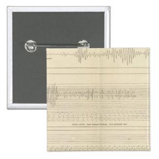 California Seismograms 15 Pinback Buttons