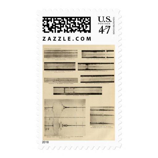 California Seismograms 2 Stamp