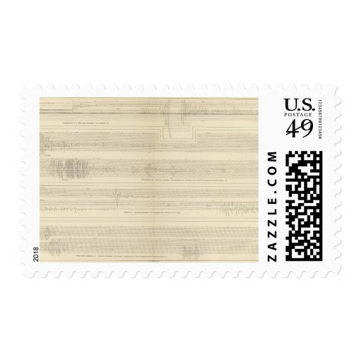 California Seismograms 8 Postage Stamp