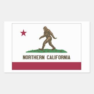 California septentrional pegatina rectangular