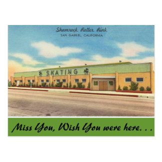 California, Shamrock Roller Rink Postcard