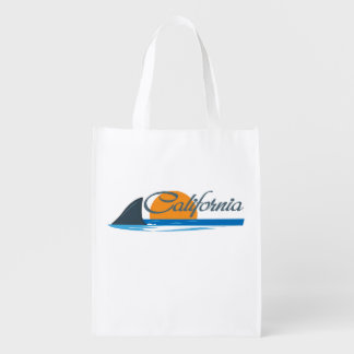 California Shark Fin & Sunset Grocery Bag