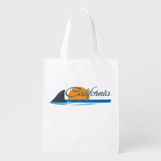 California Shark Fin & Sunset Grocery Bag
