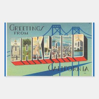 California, Sheet of 4 Oakland stickers