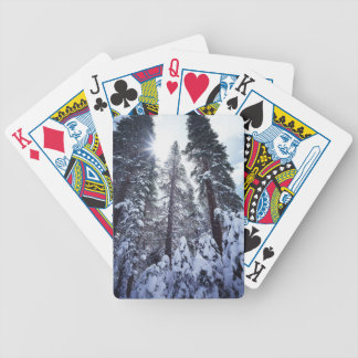 California, Sierra Nevada Mountains 9 Bicycle Playing Cards