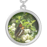 California Sister Butterfly in Yosemite Silver Plated Necklace