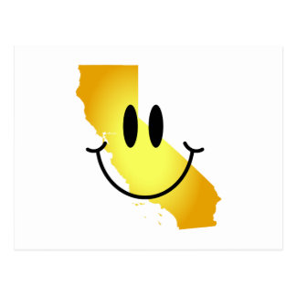 California Smiley Face Postcard
