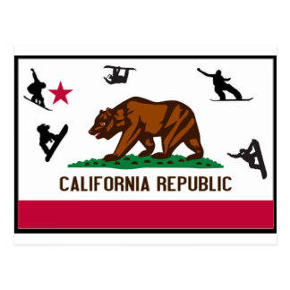 CALIFORNIA SNOWBOARD POSTCARD