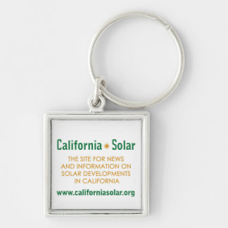 California Solar Square Keychain