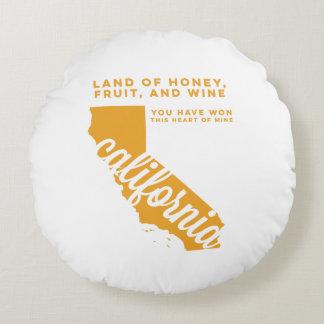california | song lyrics | gold round pillow