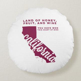 california | song lyrics | maroon round pillow