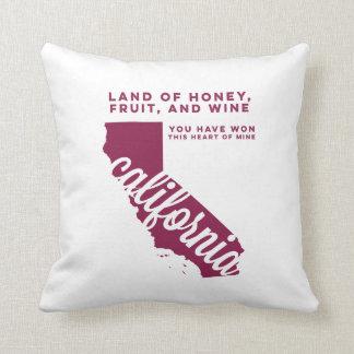 california | song lyrics | maroon throw pillow