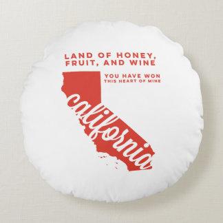california | song lyrics | red orange round pillow