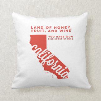 california | song lyrics | red orange throw pillow
