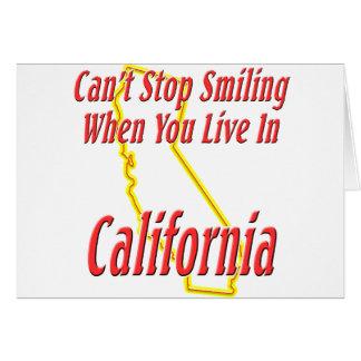 California - sonriendo tarjeton
