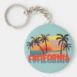 California Souvenir Basic Round Button Keychain