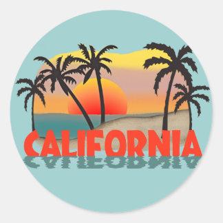 California Souvenir Classic Round Sticker