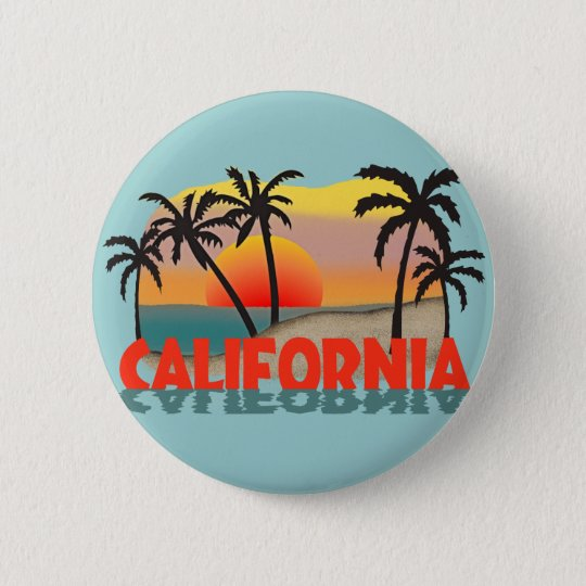 California Souvenir Pinback Button