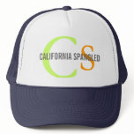 California Spangled Cat Monogram Design Trucker Hat