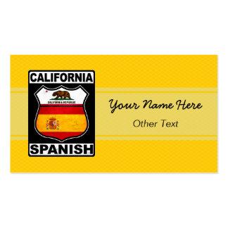 California Spanish American Custom Business Cards