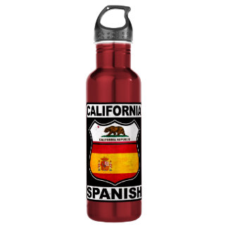 California Spanish American Stainless Steel Water Bottle