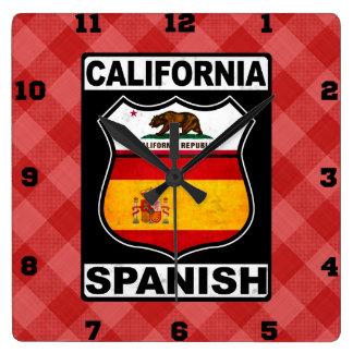 California Spanish American Wall Clock
