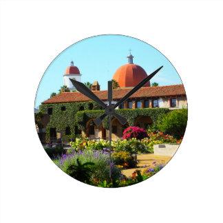 California Spanish Mission Church Wall Clocks
