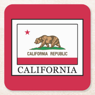 California Square Paper Coaster