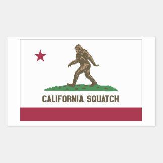 California Squatch Pegatina Rectangular