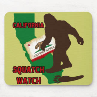 California Squatch Watch Mouse Pad