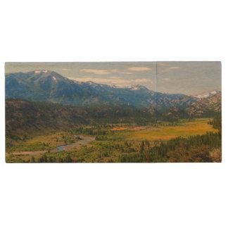 California SR 108 Sonora Pass Wood Flash Drive