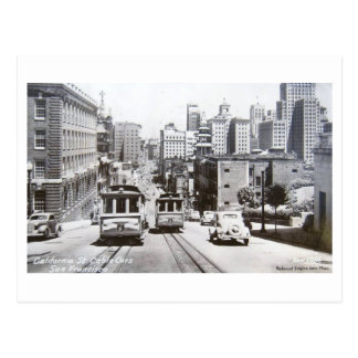 California St San Francisco California Vintage Postcard