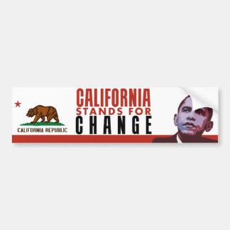 California Stands for Change - Bumper Sticker Car Bumper Sticker
