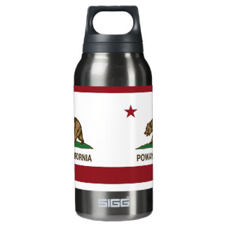 California Stat Flag Poway Thermos Bottle