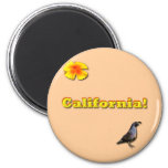 California State 2 Inch Round Magnet